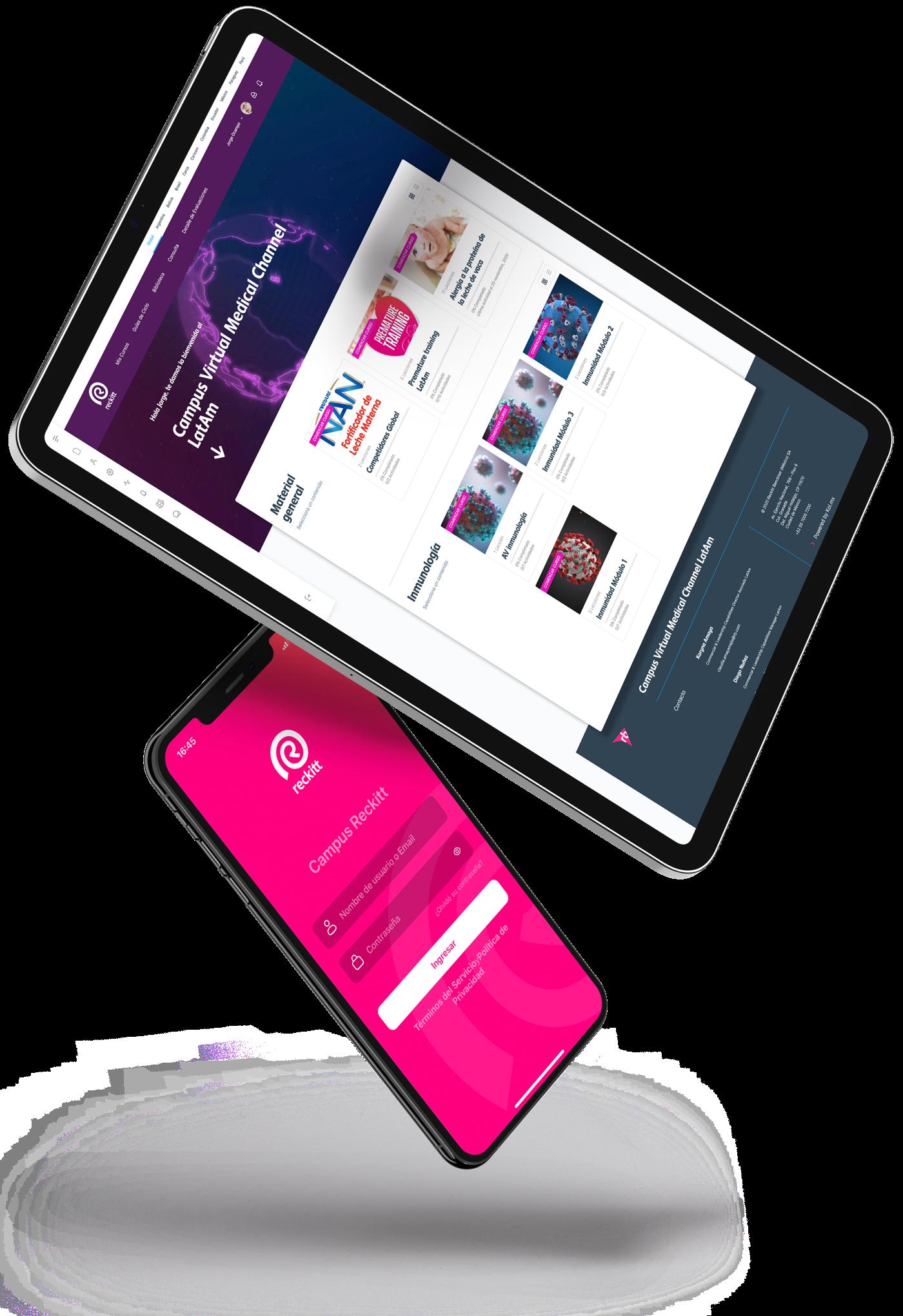 Plataforma LMS y App - Universidad Corporativa Reckitt - Kol.mx